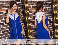Женское шифоновое короткое платье без рукавов