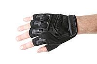 Тактические перчатки короткопалые Mechanix M-Pact Black (Чёрный)