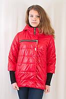 Демисезонная куртка приталенного силуэта с оригинальным рукавом Ольга.