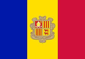 Флаг Андорры (Вышивка) - (1м*1.5м), фото 2