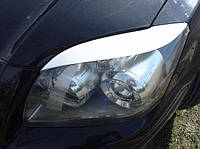 Накладки на фары Toyota Avensis (06-08), Реснички Тойота Авенсис