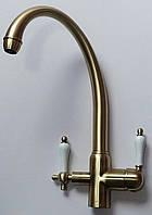 Смеситель для кухни комбинированный Kaiser 31145-3 Бронза...