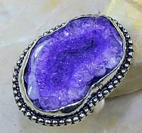 Крупное,яркое кольцо с солярным кварцем