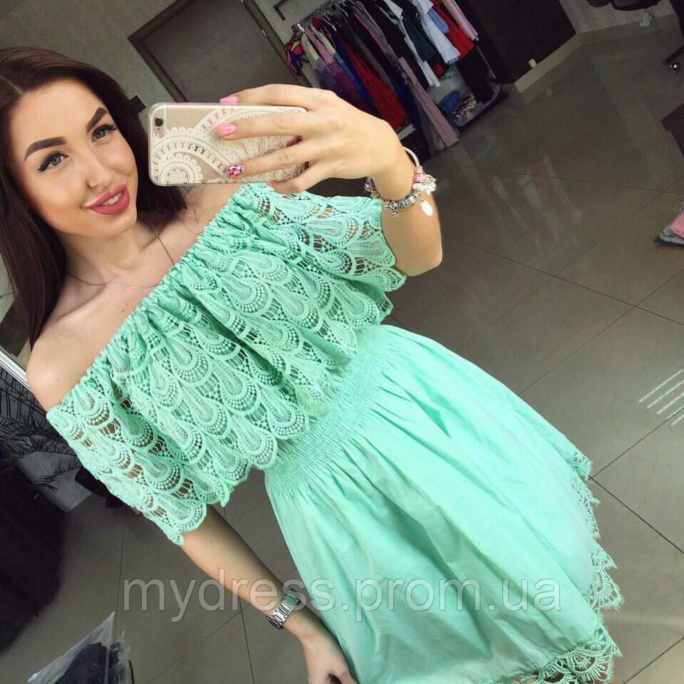 18b5b735c82 Сарафан хлопок с кружевом - MY DRESS SHOP стильная одежда от лучших  производителей в Харькове