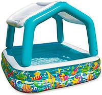 Надувной бассейн с съёмным навесом от солнца Intex 57470