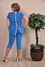 Летние капри больших размеров 012 голубые 48-74, фото 3