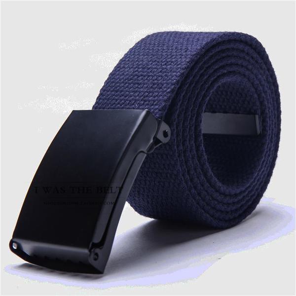 Ремень текстильный темно-синий