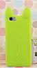 Чехол силиконовый Салатовый кот Iphone 5/5S