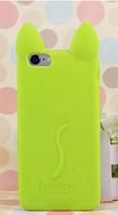 Чехол силиконовый Салатовый кот Iphone 5/5S, фото 1