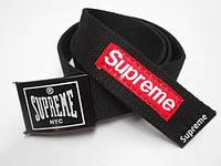 Ремень для джинсов черный  Supreme