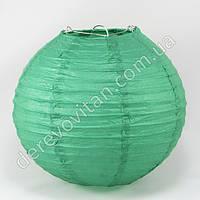 Бумажный подвесной фонарик, темно-зеленый, 20 см
