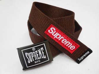 Ремень для джинсов коричневый Supreme