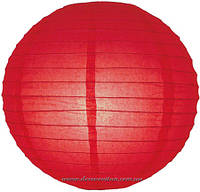 Бумажный подвесной фонарик, красный, 20 см