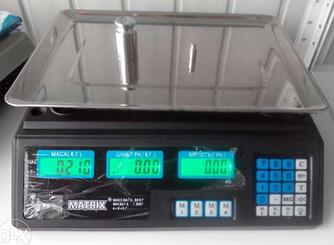 Электронные весы Matrix до 40 кг аккумулятор 6 В