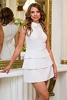 Платье женское белое с прошвой