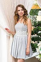 Платье женское с пышной юбкой на выпускной - Серый