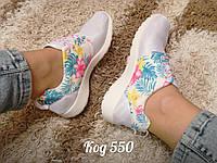 Кроссовки в стиле Nike Roshe Run серые, фото 1