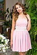 Платье женское с пышной юбкой на выпускной - Розовый, фото 3