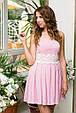 Платье женское с пышной юбкой на выпускной - Розовый, фото 2