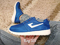 Кроссовки в стиле Nike Roshe Run синие, фото 1