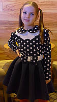 """Платье """" Бантик-горох"""" на рост 116-140см"""
