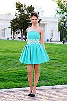 Платье женское с пышной юбкой на выпускной - Бирюзовый