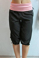 Женские бриджи Adidas (063) черно-розовые код 0143 Б