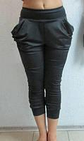 Женские бриджи Adidas (304) тёмно-серые код 0146Б