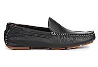 Мужские кожаные мокасины Timberland Moccasins Original Leather Black (Тимберленд) черные