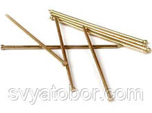 Гвозди финишные столярные 1.2х20 мм (желтый цинк, фасовка 0.1 кг)