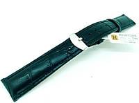 Ремешок кожаный Hightone для наручных часов с классической застежкой, черный, 18 мм, фото 1