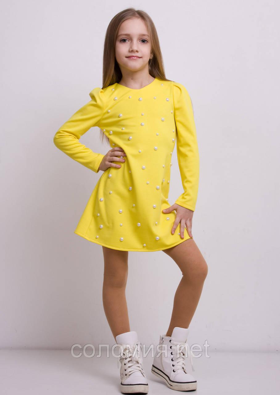 Трикотажные платья для девочки купить