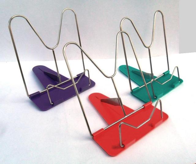 Подставка для книг металлическая, красный цвет