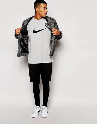 Мужская футболка Nike серая, фото 2