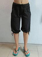 Женские бриджи Adidas (923) черные стрейч код 0152Б