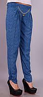 Мирра.Молодежные брюки женские.ДжинсОгурец.(Р). 46