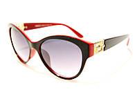 Очки солнцезащитные женские Versace 604 C5 SM 02493, очки-бабочка в красной оправе и широкими дужками