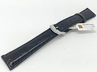 Ремінець шкіряний Hightone для наручних годинників з класичною застібкою, чорний, 18 мм, фото 1
