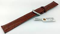 Ремінець шкіряний Hightone для наручних годинників з класичною застібкою, коричневий, 18 мм, фото 1