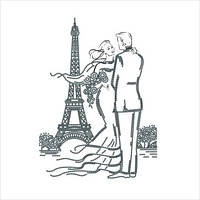 """Схема для вышивки бисером """"Встреча в Париже"""""""