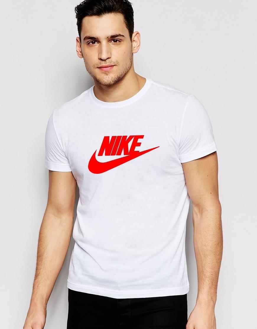 Мужская футболка с принтом Nike белая