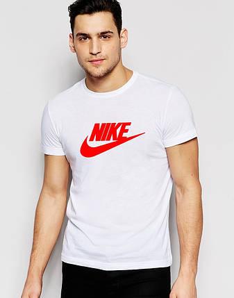 Мужская футболка с принтом Nike белая, фото 2