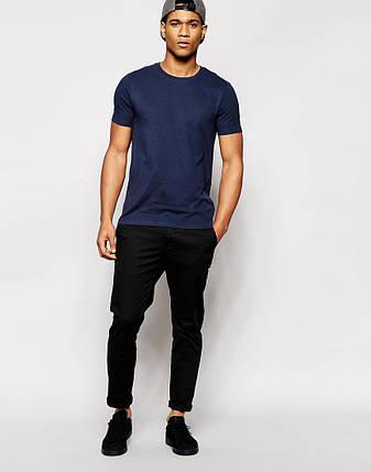 Мужская футболка т.синяя , фото 2