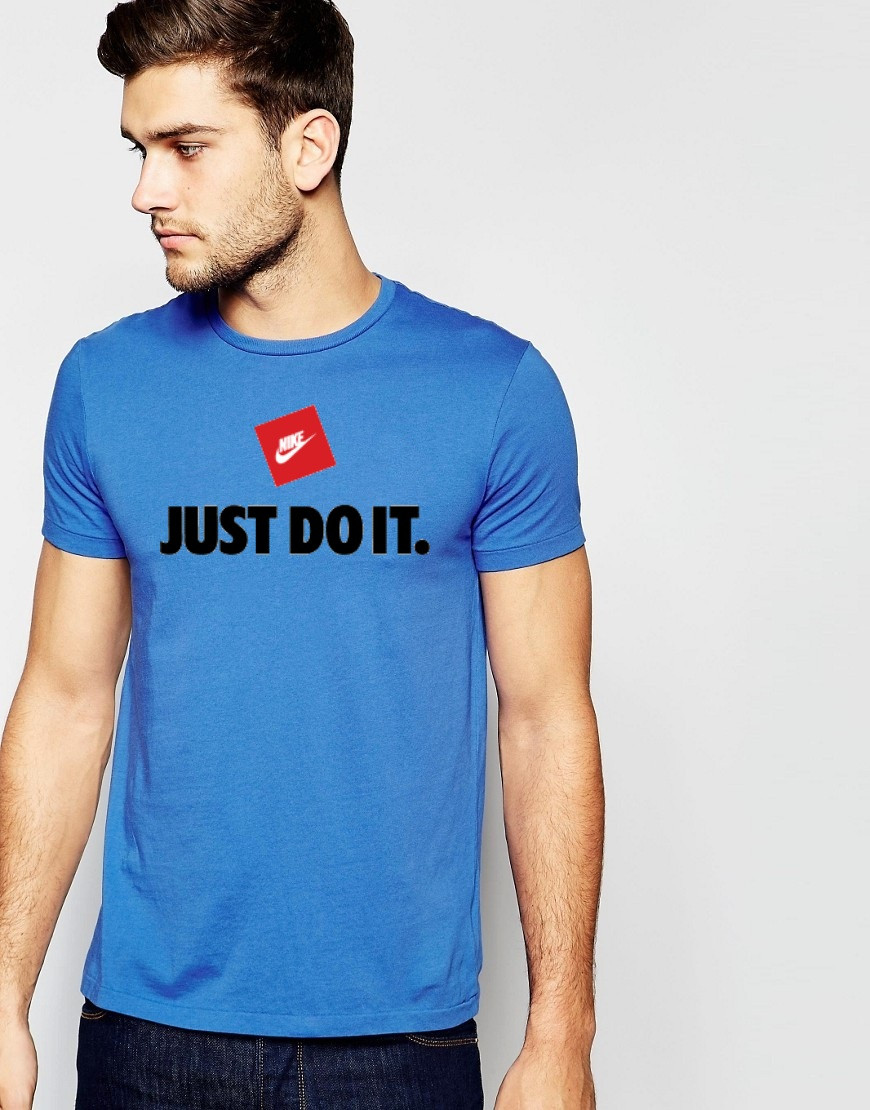 """Мужская футболка"""" Nike Just do it"""" синяя"""