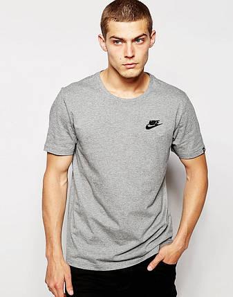 Мужская футболка Nike серый, фото 2