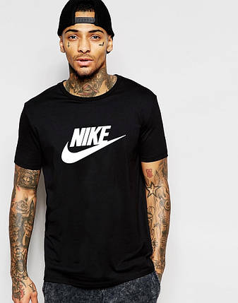 Мужская футболка Nike черный, фото 2