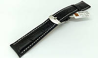 Ремешок кожаный Hightone для наручных часов с классической застежкой, черный, 19 мм, фото 1