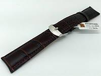 Ремінець шкіряний Hightone для наручних годинників з класичною застібкою, коричневий, 19 мм