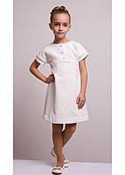 Платье для девочки из структурного трикотажа