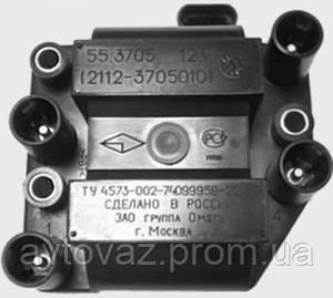 Катушка зажигания, модуль зажигания, ВАЗ 2108, 2109, 21099, 2110, 2111, 2112 1.5L (8 и 16) кл. ОМЕГА (Москва)